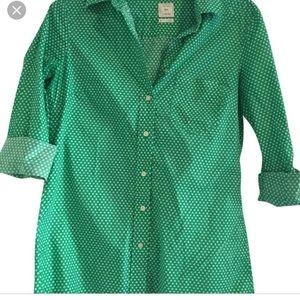 Gap Fitted Boyfriend Green Button Up